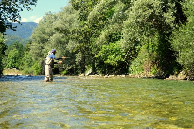 Fly fishing in Logar Valley