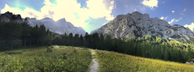 Hiking above Logat Valley, the Kamnik-Savinja Alps