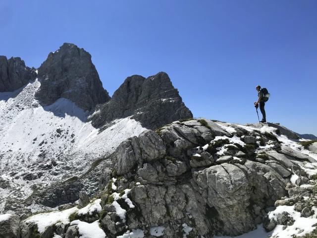 Hiking in the Julian Alps, Triglav National Park, Slovenia
