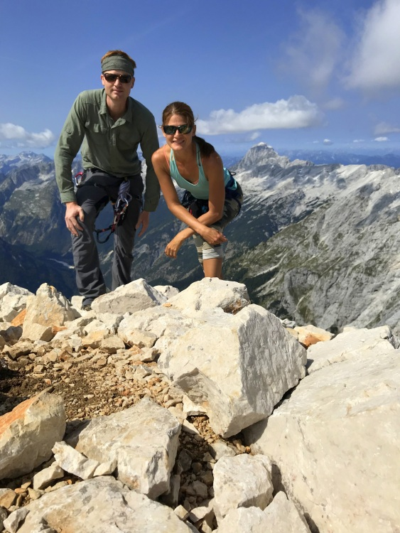 At the top of Mt. Razor, Julian Alps, Slovenia