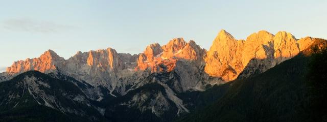 Martuljek Mountain Group for sunrise, Julian Alps