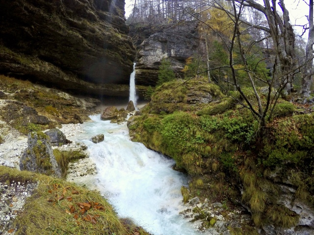 Peričnik Waterfall, Triglav National Park, Vrata Valley, Slovenia