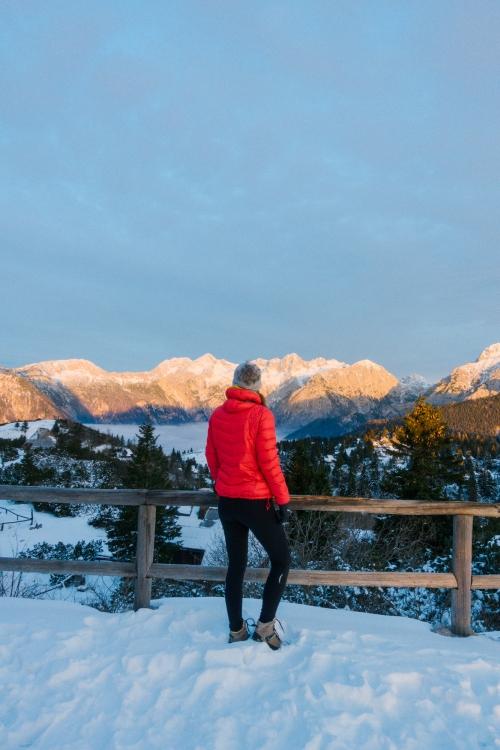 Koca.si Velika Planina Resort for sunrise in the winter, Slovenia, Ljubljana