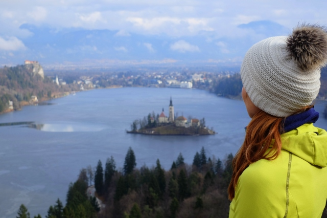 Best view of Lake Bled, view point, Slovenia