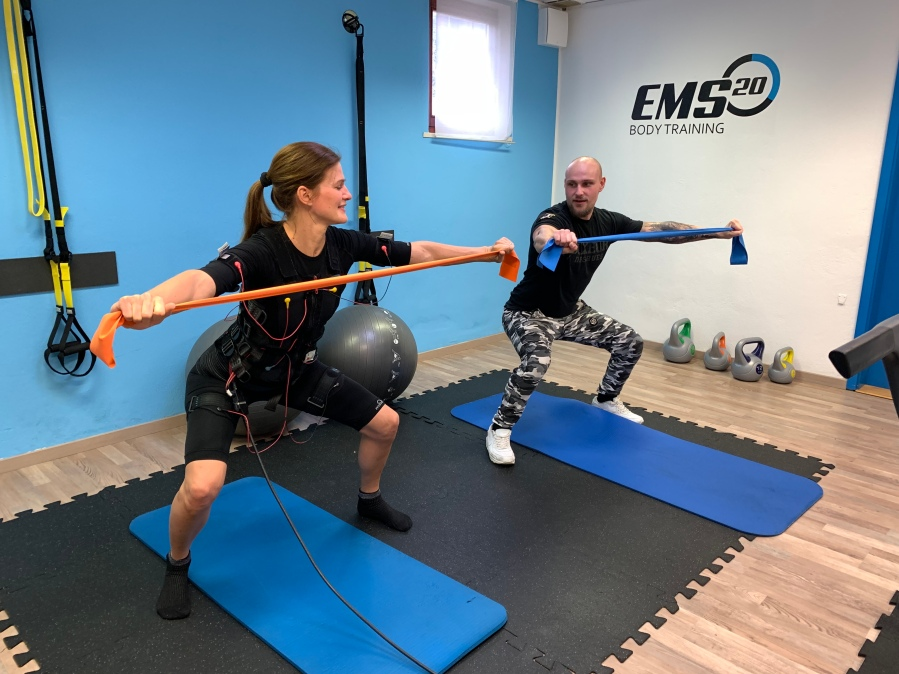 Doing a bodytech workout with EMS 20 Training, Slovenia, Ljubljana