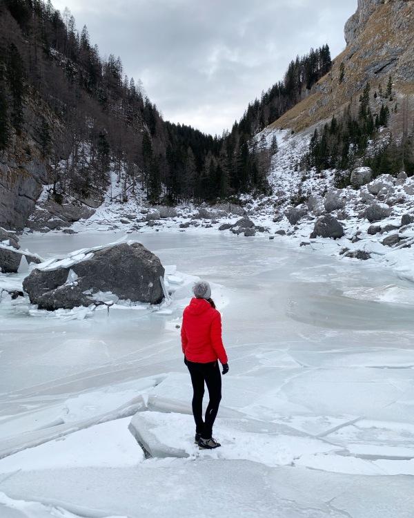 Frozen Black Lake, Triglav Lakes, Slovenia, Julian Alps